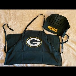 Greenbay Packers apron and chef hat set